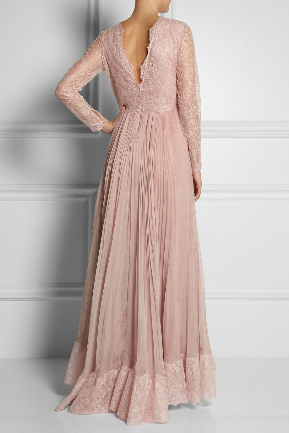 Valentino | Lace and silk gown | NET-A-PORTER.COM | My closet ...