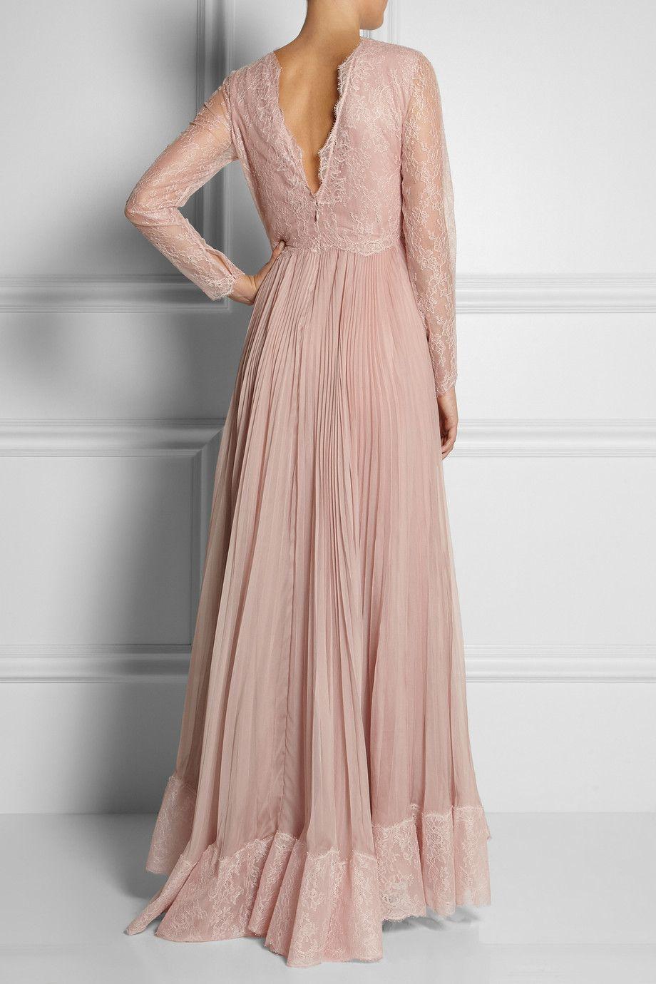 Valentino | Lace and silk gown | NET-A-PORTER.COM | Vestier ...