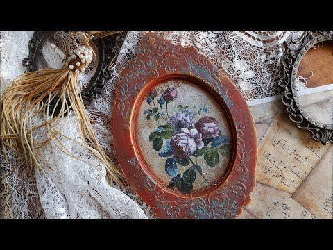 Ramka Vintage dla Decoratorium #vintage #decoupage #frame - YouTube