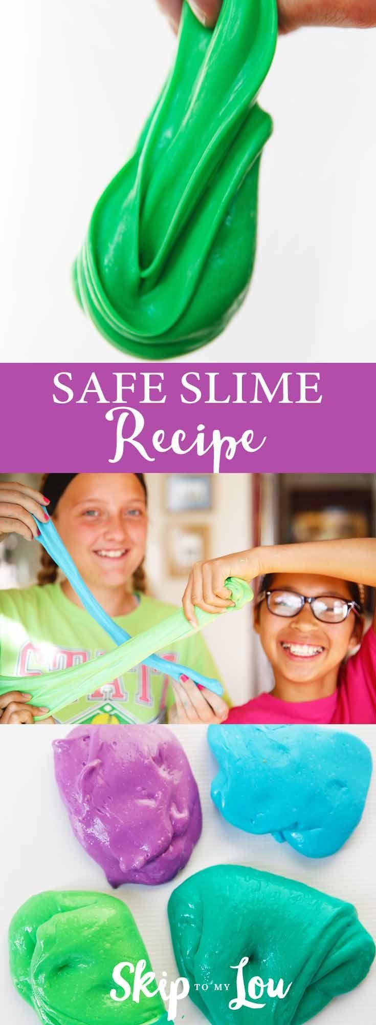 Easy safe slime recipe no borax