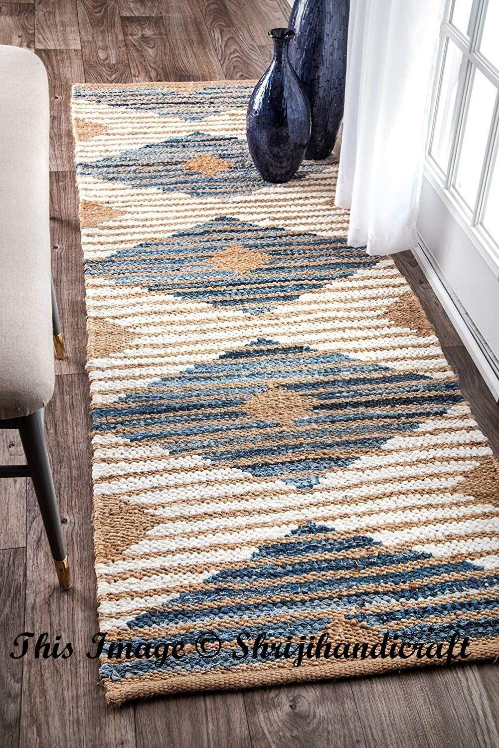 Bohemian Decor Indian Braided Runner Rug Home Decor Runner Rug Rag Rug Jute Rug Runner Meditation Mat Rug Colorful Area Rug Braided Area Rugs Floor Rugs