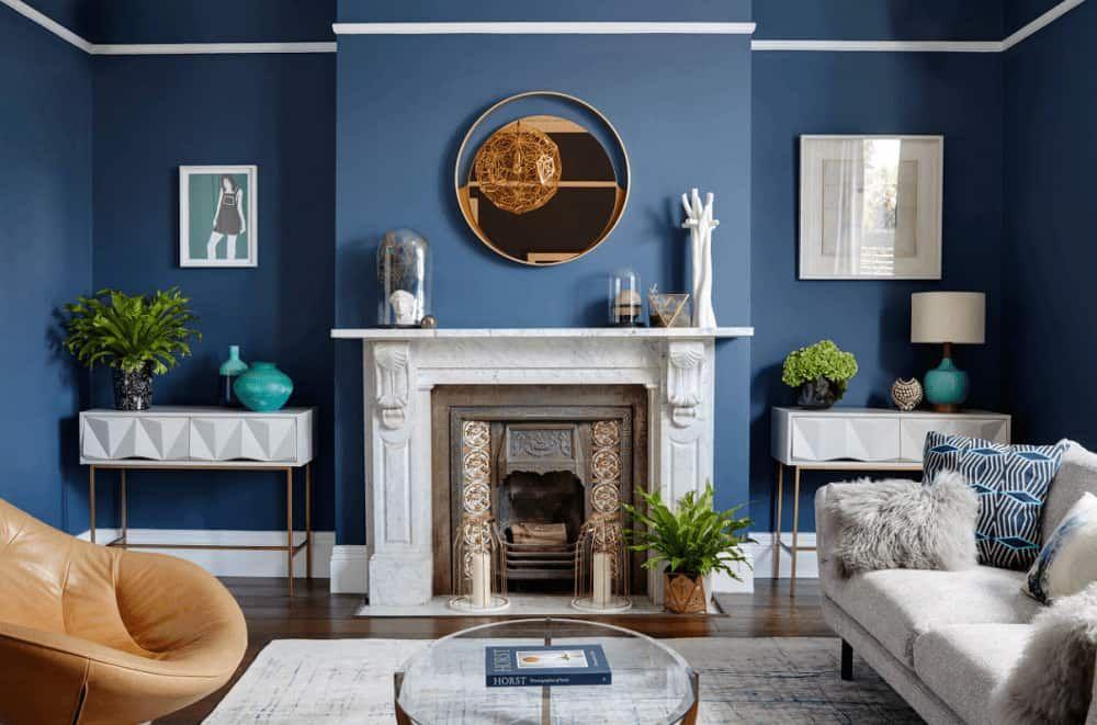 50 Blue Living Room Ideas Photos Blue Living Room Blue Walls Living Room Blue Living Room Decor