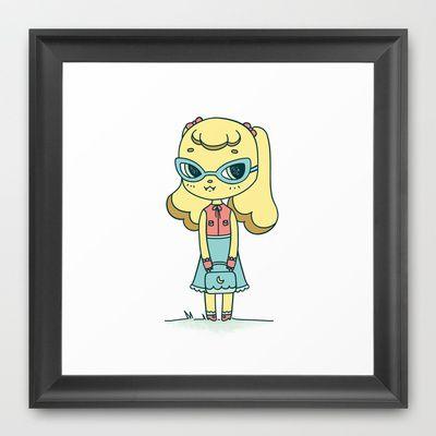 Gloria  Framed Art Print by Missiku - $32.00