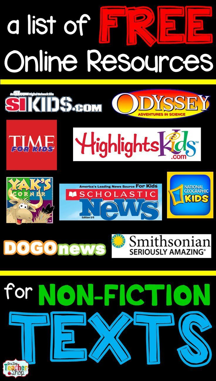 Free Nonfiction Reading Websites for Kids Reading