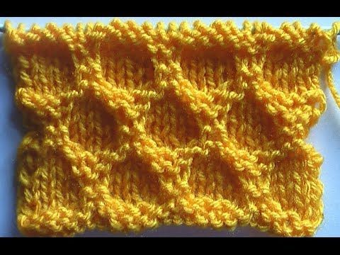 da8e0b81b75f Hexagonal ) - Embossed Patterns - Free Knitting Patterns Tutorial ...