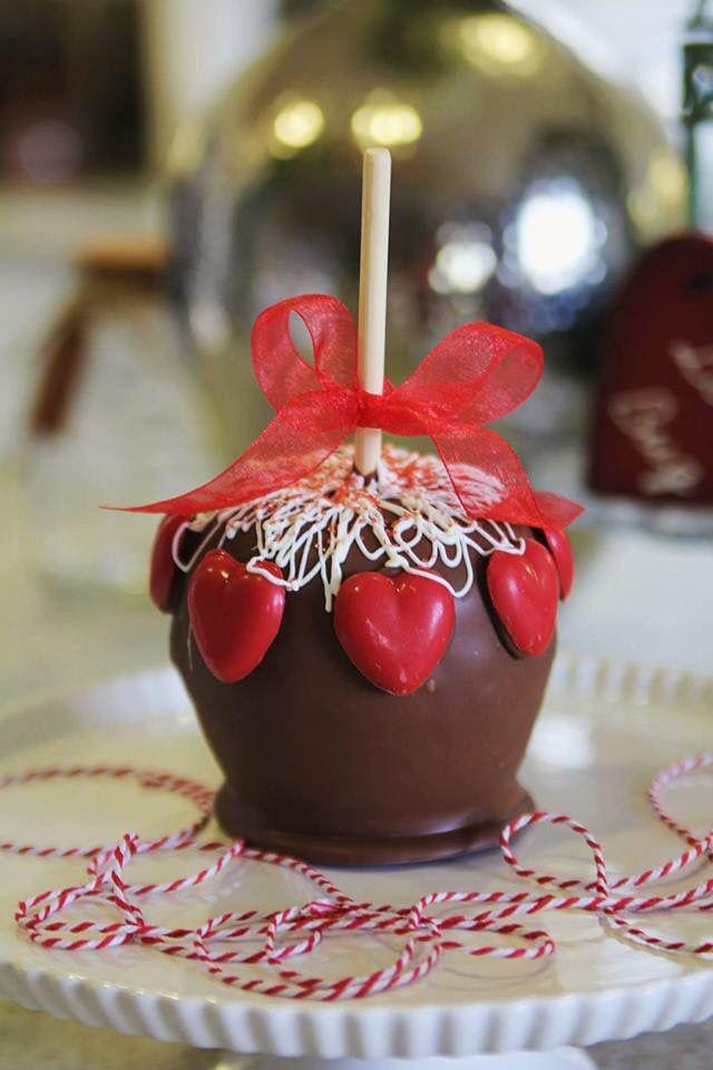 Valentine S Day Caramel Apples Caramel Apples Pinterest