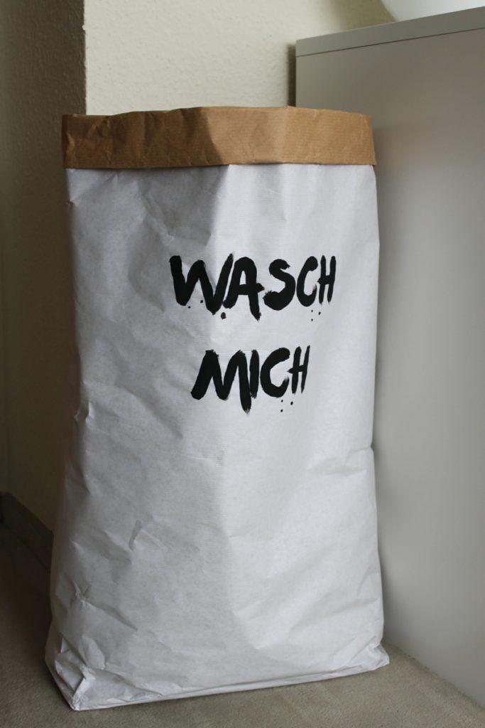 Wäschekorb Selber Machen : papiersack paperbag diy selber machen w schesack ~ Watch28wear.com Haus und Dekorationen