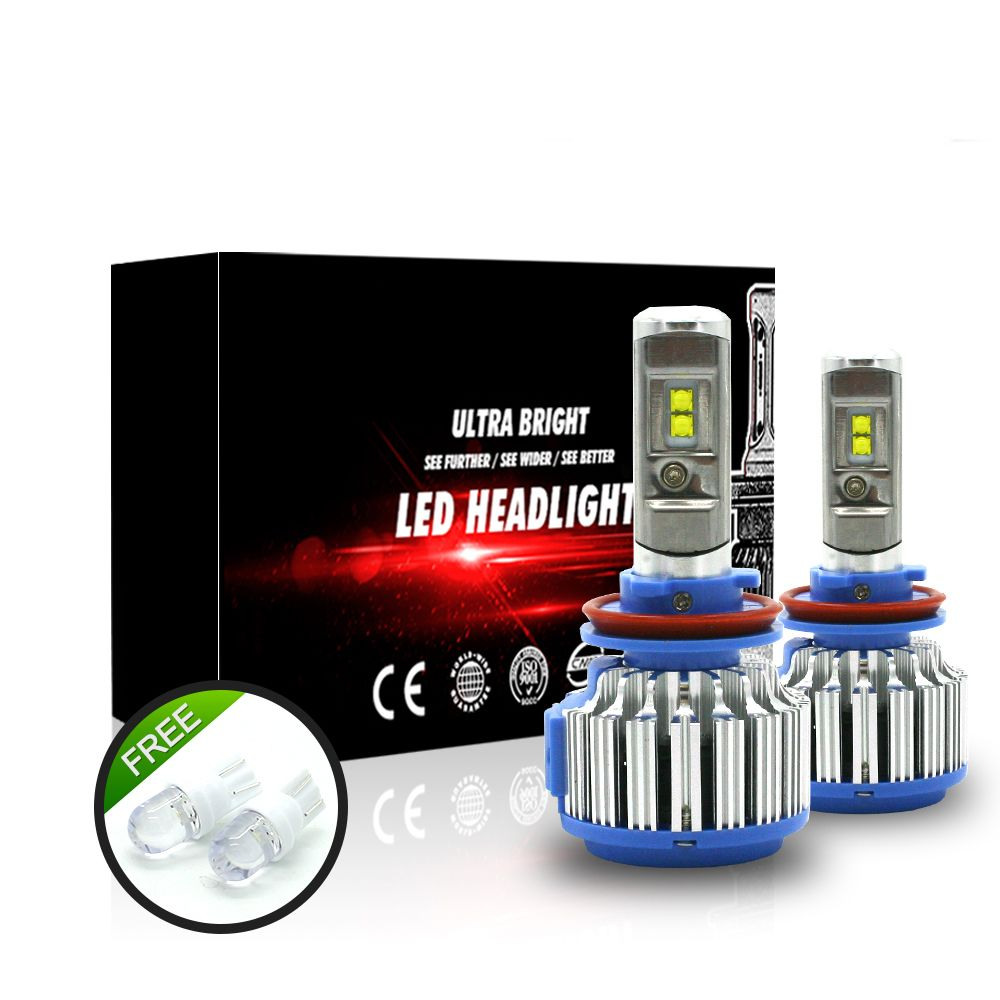 Auto Headlight Bulb Set H7 Led Tailor Made High Power 70w 7000lm White 6000k Super Bright Car Head Light For Ford Toy Car Headlights Headlight Bulbs Car Lights