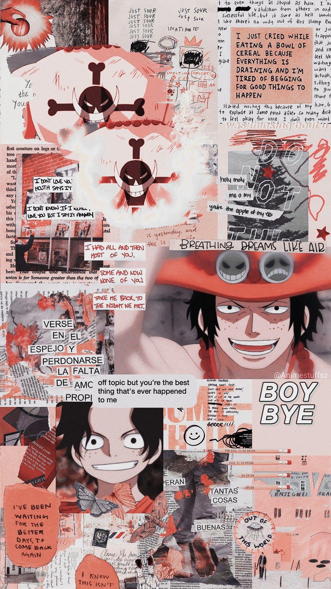 One Piece Ace Animes Wallpapers Papel De Parede Do Iphone Papel De Parede Anime