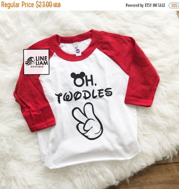 VET SALE Oh Twodles Two Year Old Shirt Im Lets Party 2nd Birthday Raglan Boys Boy Shi