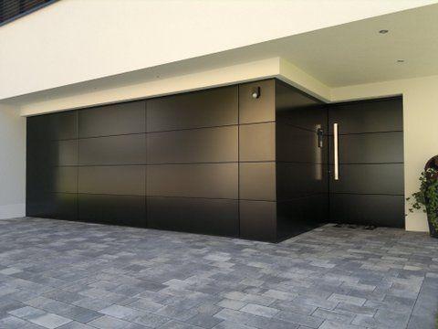 Puertas para cocheras modernas fachadas cochera moderna puertas y cochera - Puertas de cochera ...