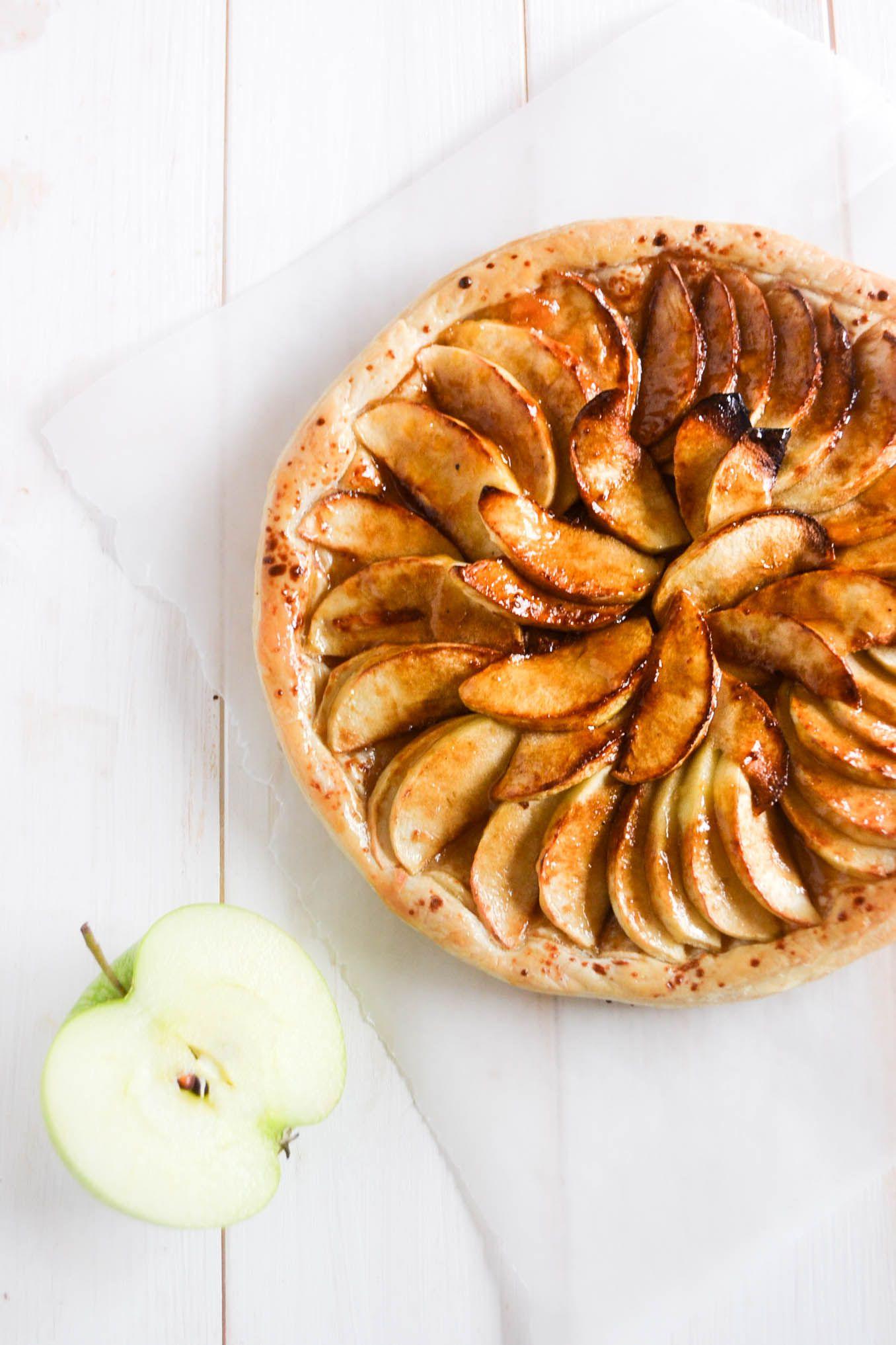 Easy Vegan French Apple Tart - Wallflower Kitchen
