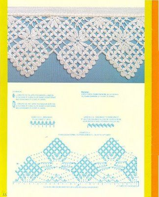 Crochet edging #39 ♥LCE♥ with diagrams