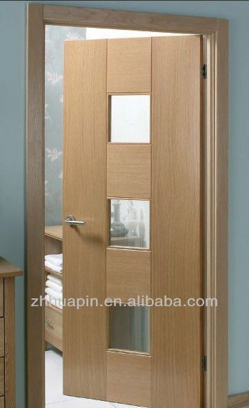 New Design Contemporary Glass Insert Wood Interior Doors , Find Complete  Details About New Design Contemporary