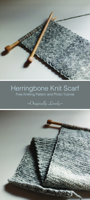 Photo of Free Knitting Pattern   Herringbone Knit Scarf   Originally Lovely #Strickschal …