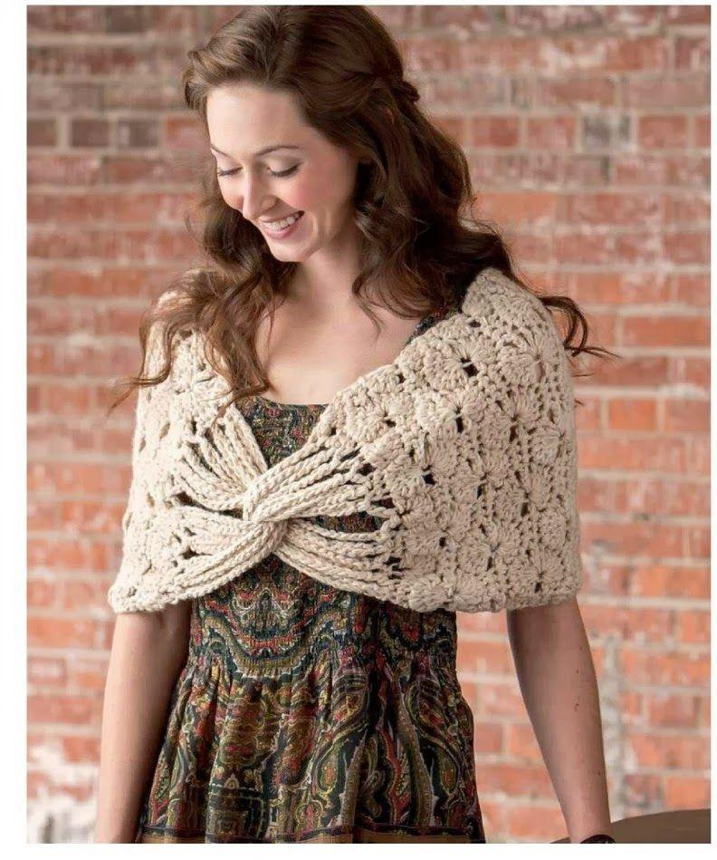 Capa Crochet Cruzada Patron | tejidos | Pinterest | Cruzado ...