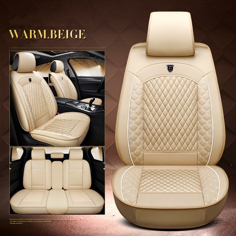 2018 Luxury Pu Leather Auto Universal Car Seat Cover Automobile Seat Cover For Audi Tt Q A1 A3 A4 A6 A7 A8 A6l Black Red Beige Car Seats Seat Cover Audi Tt