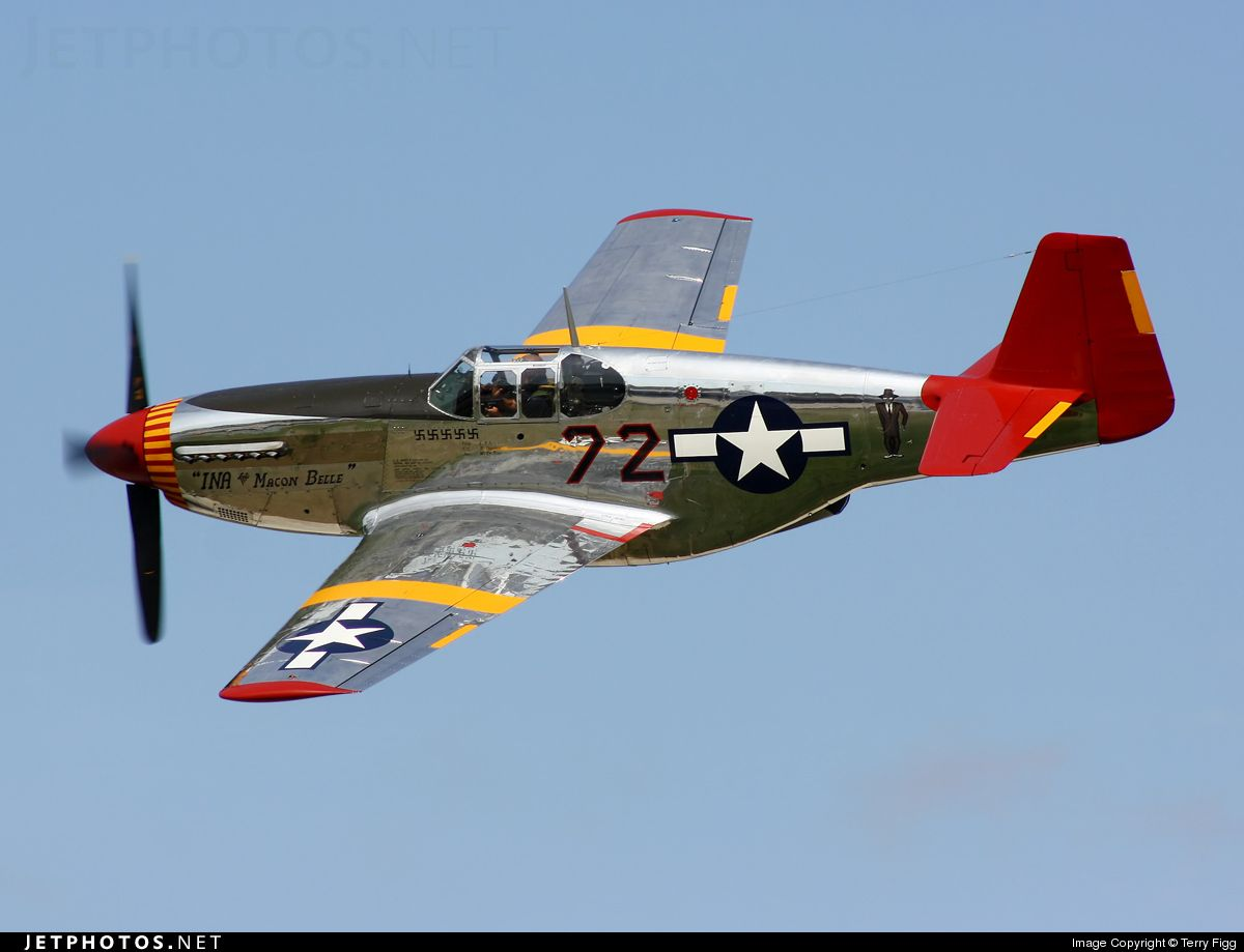 North American P 51c Mustang Red Tail Aviation P51