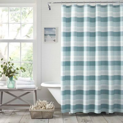 Tommy Bahama Hula Beach Tranquil Blue Shower Curtain In 2020