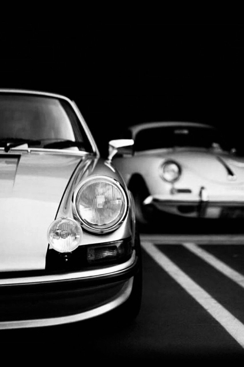 White On Black Porsche Retro Models The Man Voertuigen