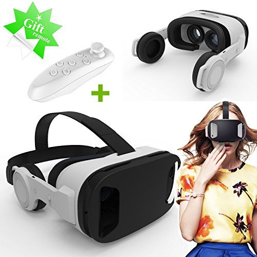 3d Vr Headsetglasses Tsanglight Virtual Reality Headset With 3d Headphones Gift Remote For 4555 Ios Androi Headphone Gifts Virtual Reality Headset Vr Headset