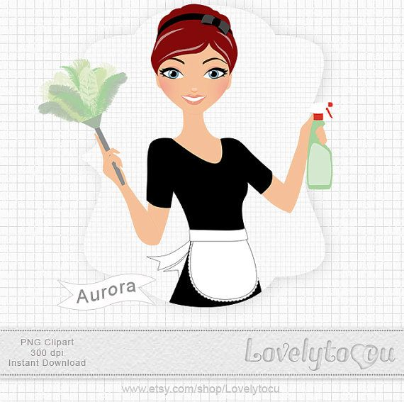 Cleaning Lady Maid Clip Art Woman Cleaning Digital Png Clip Art Aurora 383 Clip Art Cleaning Lady Cleaning Company Logo