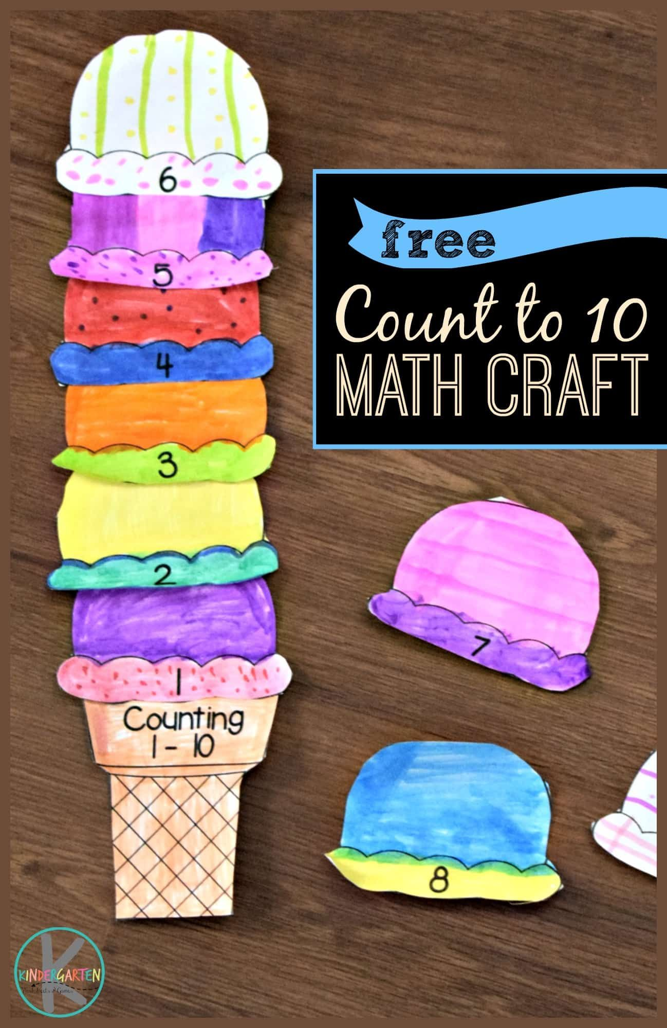 Free Count To 10 Math Craft