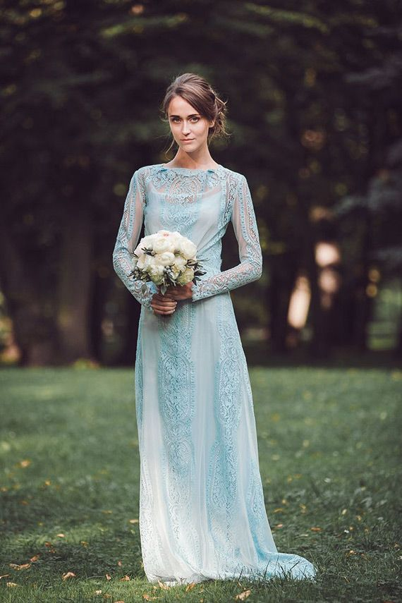 A Truly Special Something Blue: Your Wedding Dress? | Pinterest ...