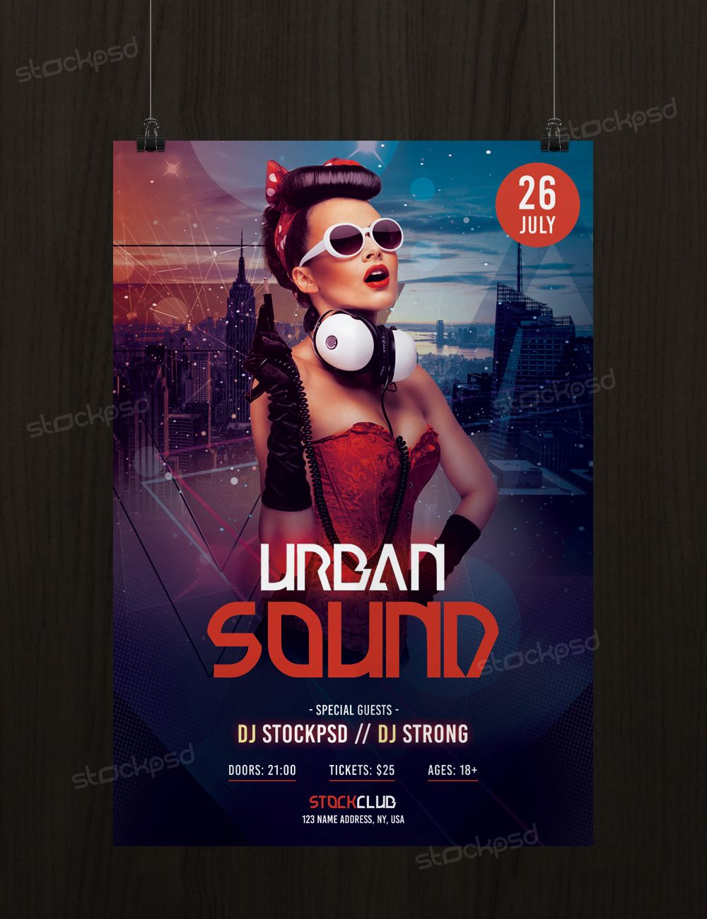 Urban Sound Download Free PSD Flyer Template Stockpsdnet - Free templates for flyers and brochures
