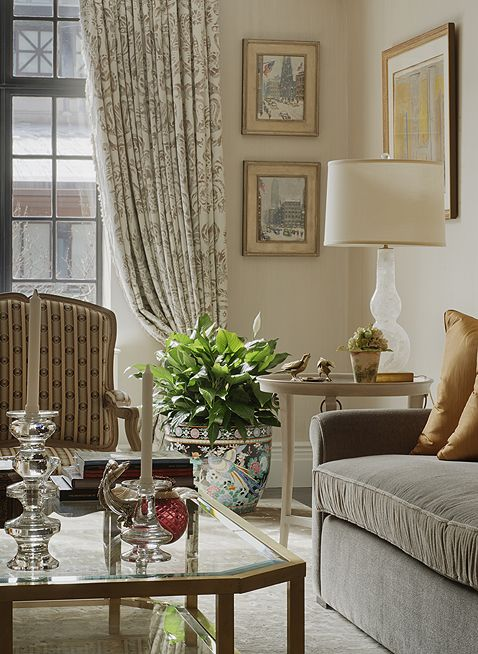 Drawing room detail upper east side apartment new york - Apartment living room decor ...