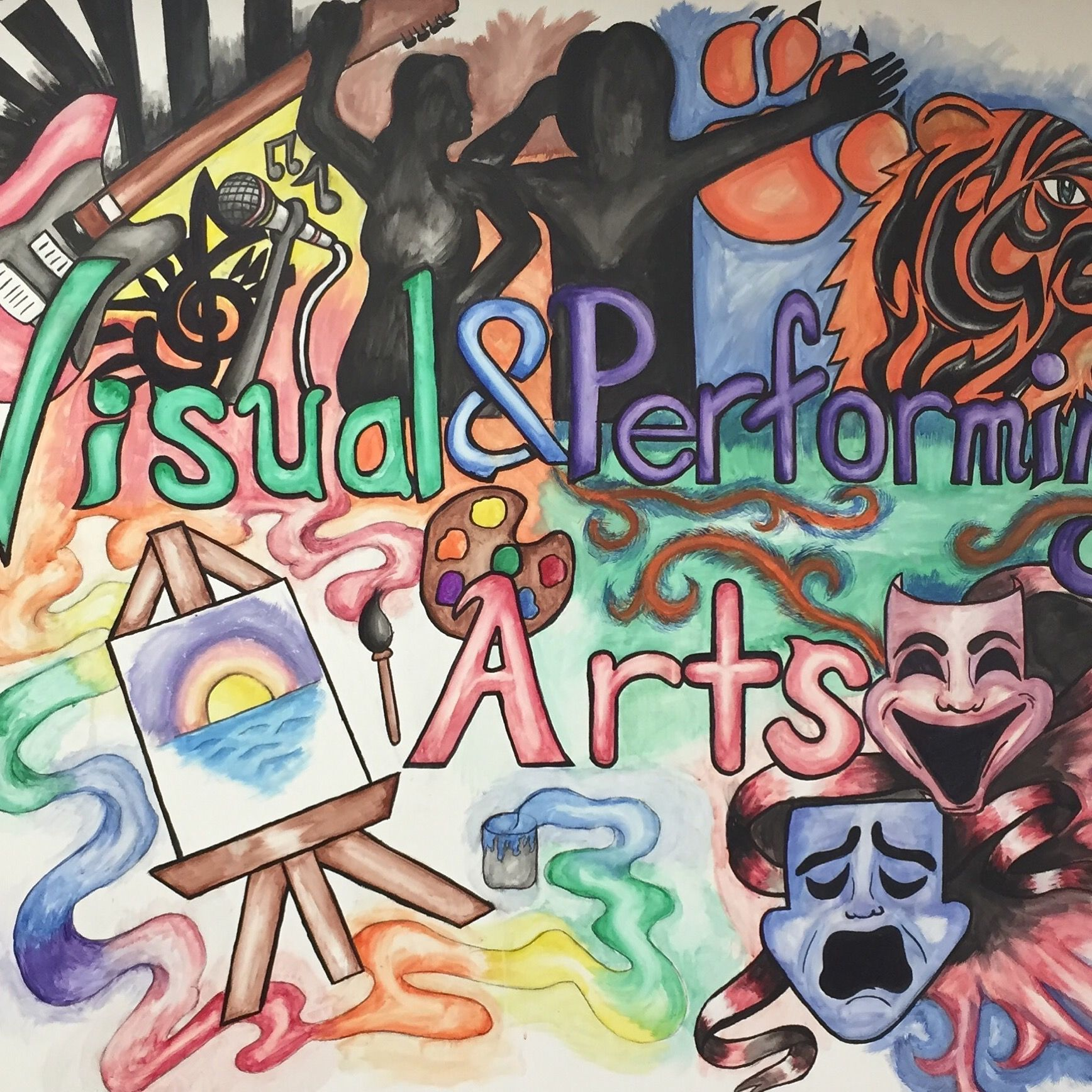 Image Result For Visual And Performing Arts Mural Visual And Performing Arts Performance Art Art
