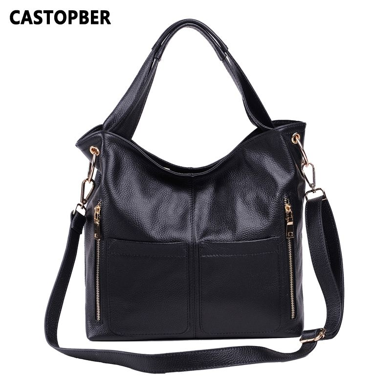 0de0bcca522cc5 Retro Handbag European And American Style Fashion Handbag First Layer Of Cowhide  Women Genuine Leather Ladies Shoulder Bag Brand