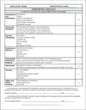orientation-checklist | Work | Pinterest | Labor, Restaurant and House