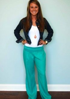 Teal Linen Pants | Style | Pinterest | Dark denim, I want and In love