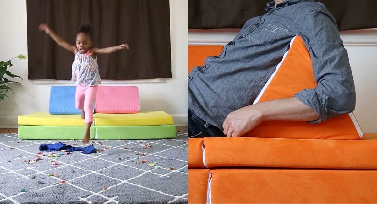 Nugget Is A Portable Couch For Kids That Doubles As A ...