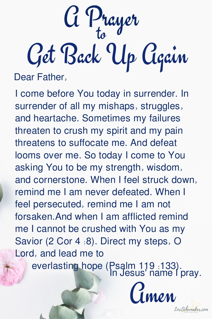 A Prayer to Get Back Up Again