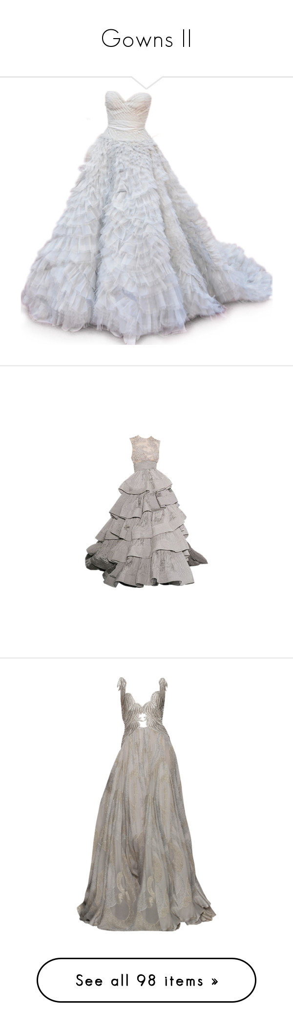 """""""Gowns II"""" by moniquehannagan ❤ liked on Polyvore featuring dresses, gowns, long dresses, vestidos, oscar de la renta evening gowns, oscar de la renta, oscar de la renta dresses, oscar de la renta ball gown, oscar de la renta gown and evening gowns"""