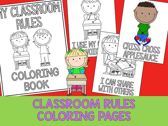 Classroom Rules Boys And Girls Coloring Book Pages The