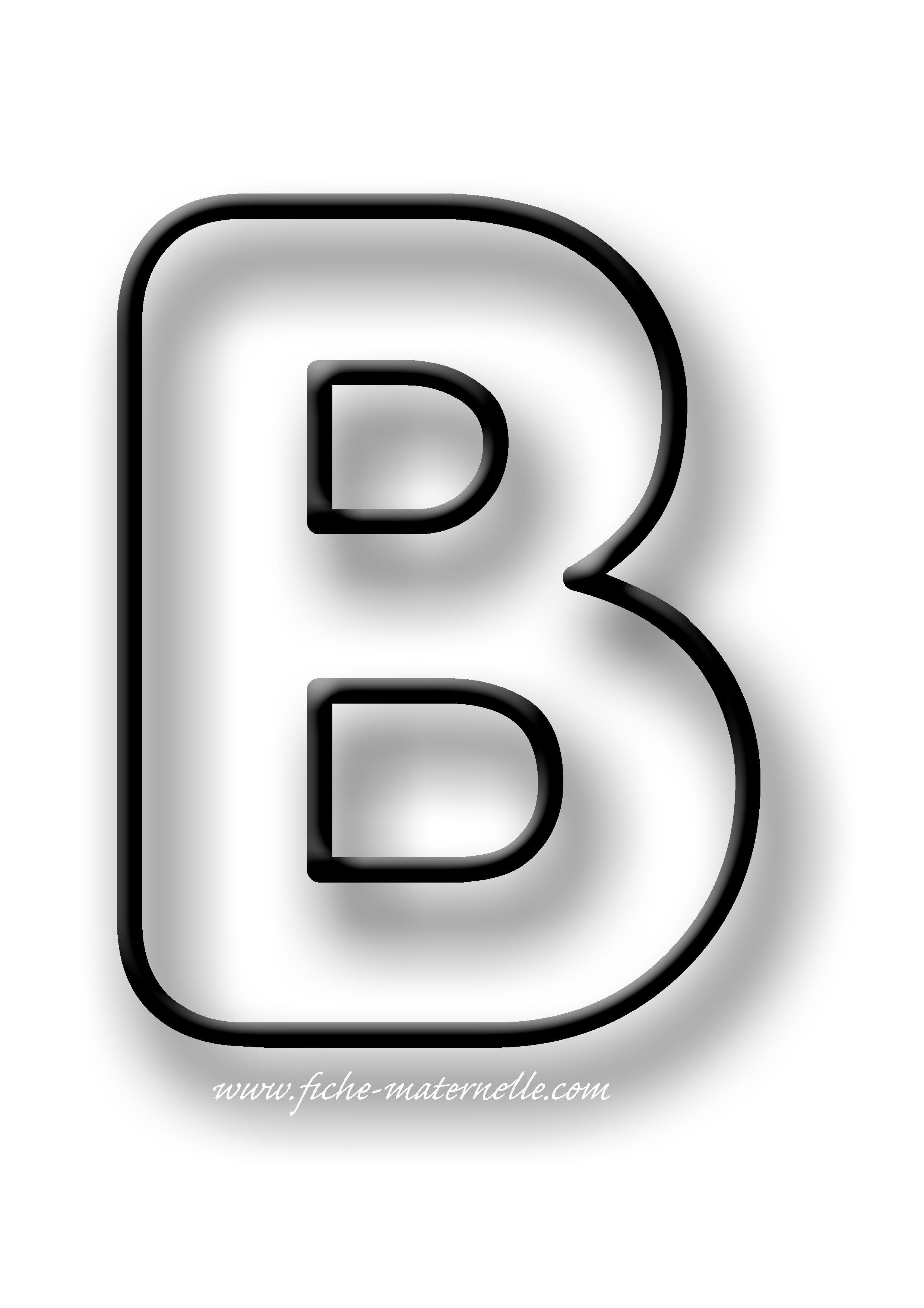 Coloriage de la lettre B | Lettre a, Lettre alphabet à ...
