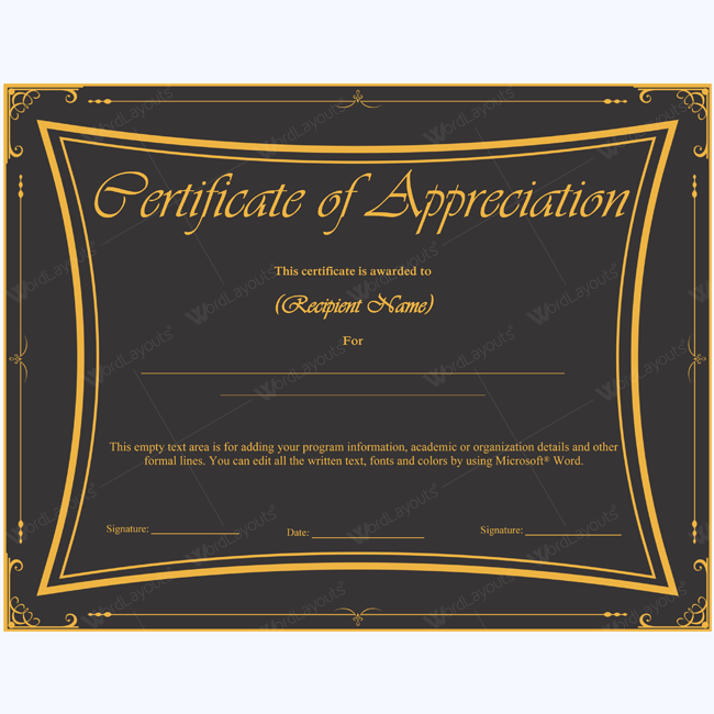 Certificate Of Appreciation   Certificate Appreciation And Teacher