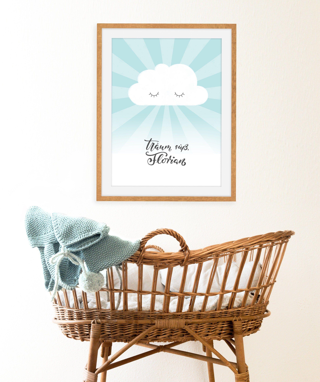 Kinderzimmer Bild Name und Farbe personalisierbar