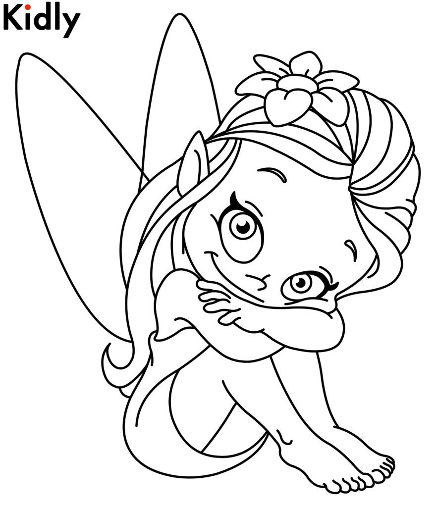 fairy coloring page | Graphics & stencils | Pinterest | Fairy ...