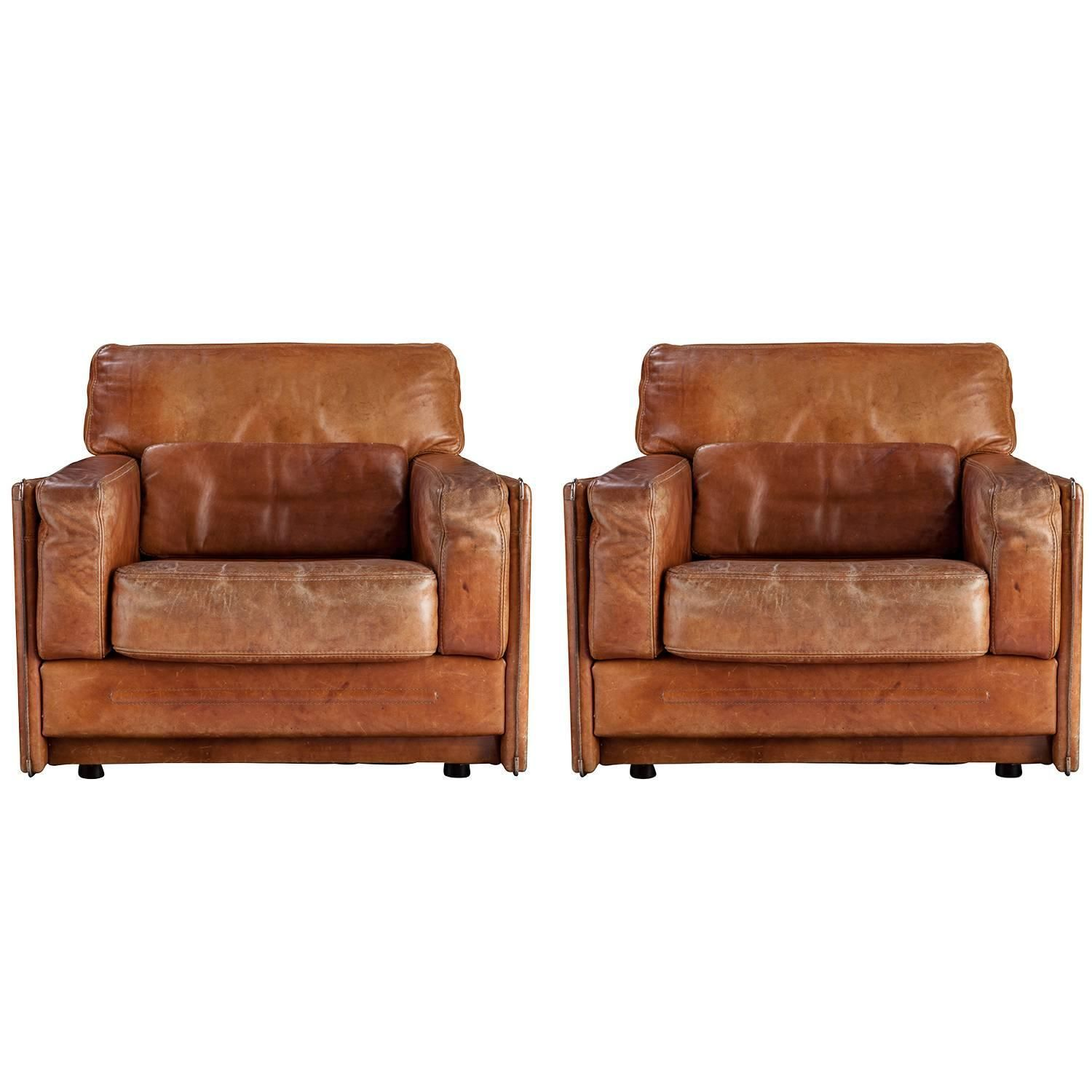 Pair of Arcon Leather Chairs   1stdibs.com   living room   Pinterest