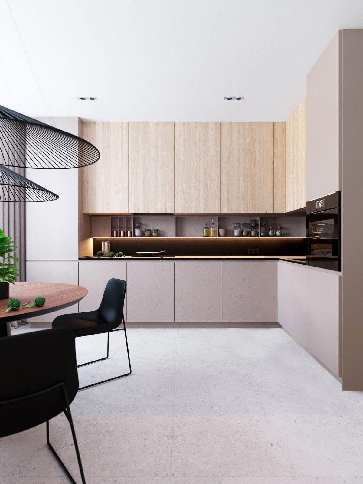 The design for this sq  home in moscow russia was visualised by also best int kitchen images modern kitchens rh pinterest