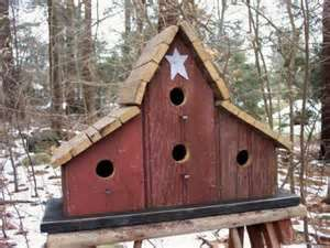 - Primitive Barnwood Birdhouse Tobacco Lath Roof by birdhouseaccents