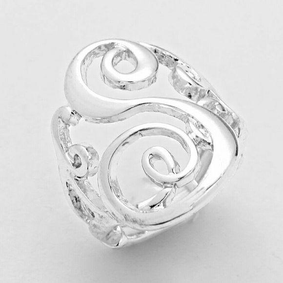 """S"" Monogram Stretch Ring ""S"" Monogram Stretch Ring Jewelry Rings"