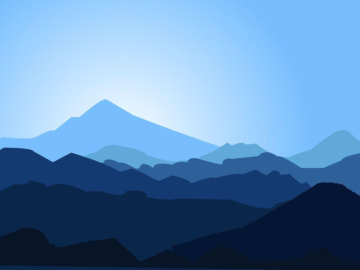 Montains Landscape Flat On Behance 산맥 풍경 그림 풍경화