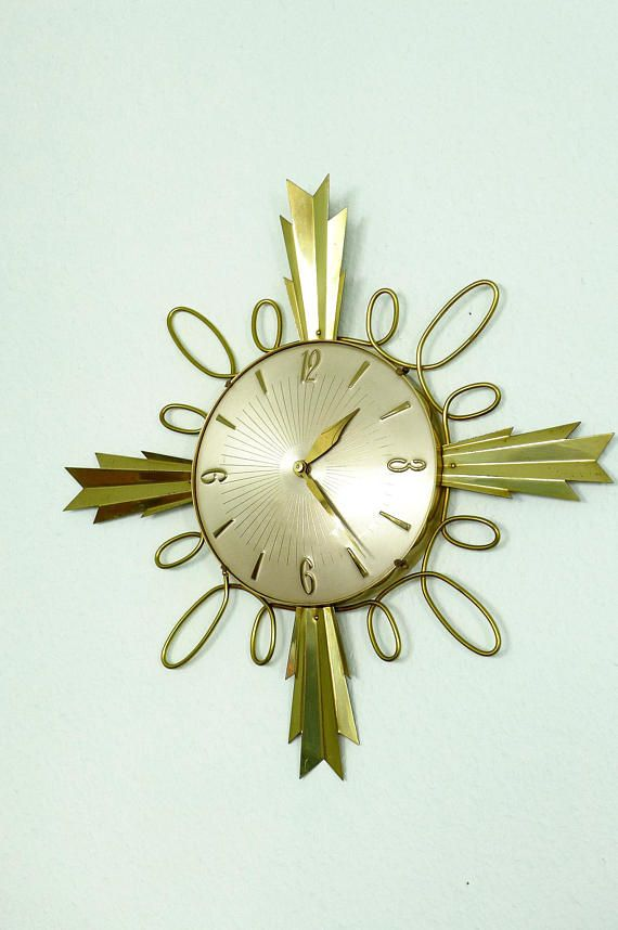 Your Place To Buy And Sell All Things Handmade Vintage Clock Wall Clock Clock Wall Decor