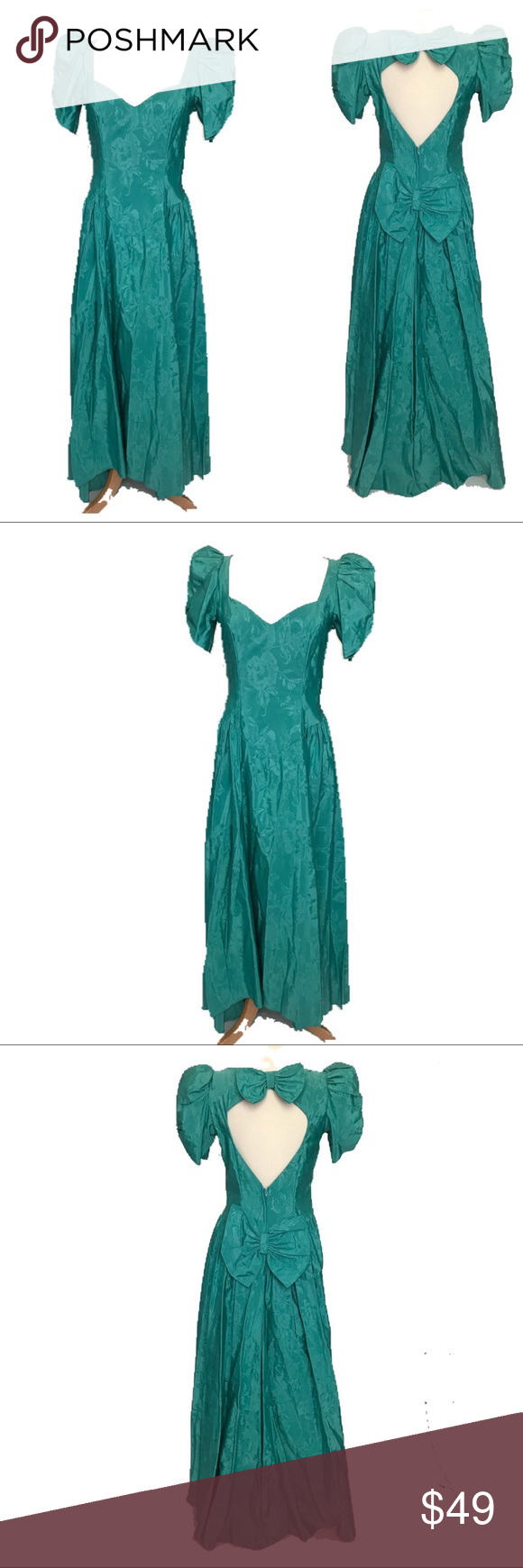 Vintage s prom dress size green puffy vintage s prom dress