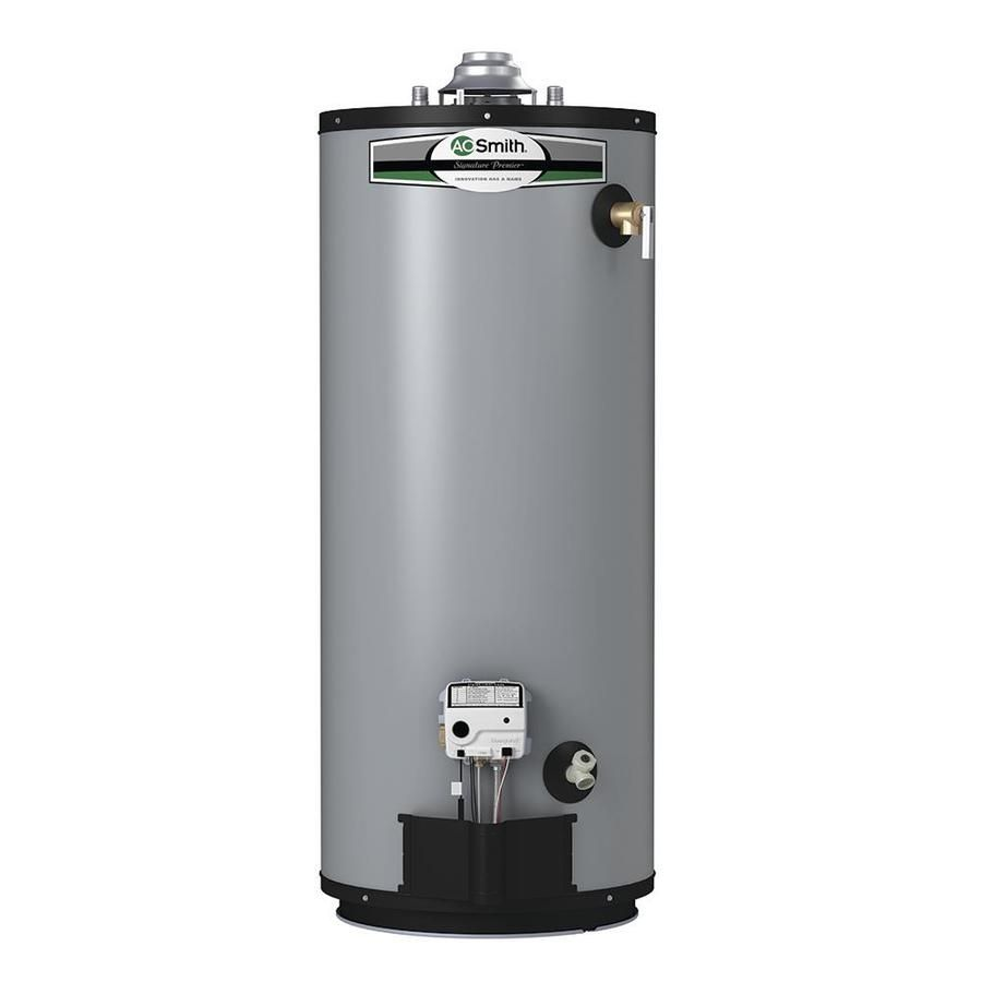 A O Smith Signature Premier 40 Gallon Short 12 Year Limited Natural Gas Water Heater Natural Gas Water Heater Will Smith Lowes